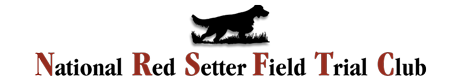 National Red Setter Field Trial Club Logo